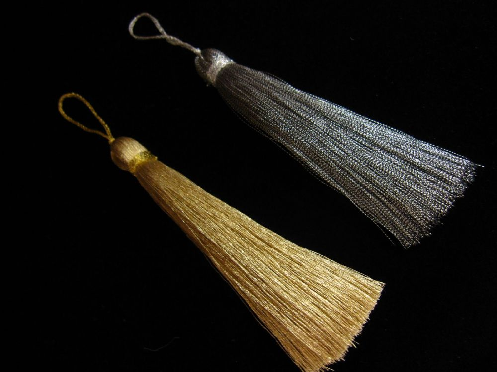 Silver Gold Key Tassel Xmas Christmas Decoration Craft
